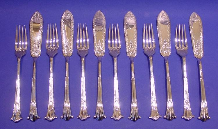 Edwardian Silver Fish Knives And Forks Daniel Bexfield
