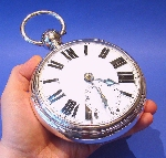 An Enormous Victorian Silver Fusee Pocket Watch Made by Frederick Wilkins, London in 1864 Price £14,500.00