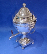 A Rare Large Irish silver Samovar/Tea Urn with Lion-mask Handles  Made by Robert Breading Dublin 1803 Price £11,500.00