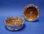 A Pair of George III Silver & Fruitwood Wine Coasters Made by Samuel & Charles Young & Co., Sheffield 1819 Price £1,795.00