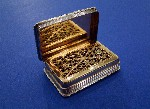 Victorian Silver Engine-Turned Vinaigrette With Raised Cast Boarder Made by Thomas Shaw Birmingham 1838 Price £595.00