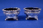 Pair of George IV Silver Salt Cellars Made by Abstainando King London 1824 Price £1,395.00
